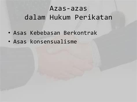 hukum perdata perjanjian perikatan