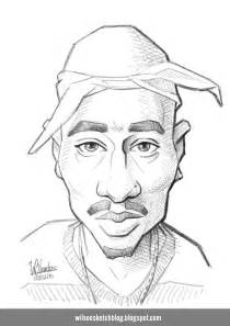 2pac Outline by 2pac Caricature Sketch
