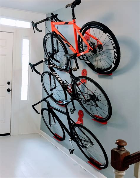 Hanging Bike Rack by Bikes Hanging Rack System Dahanger Dan Pedal