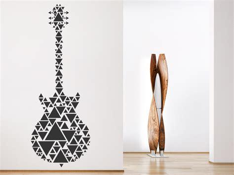 Wandtattoo Kinderzimmer Dreiecke by Wandtattoo Gitarre Aus Dreiecken Wandtattoo De