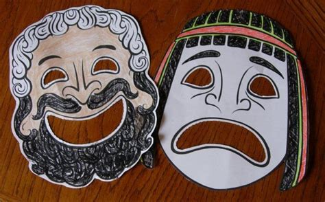 ancient greek mask template theatre masks templates www imgkid the image