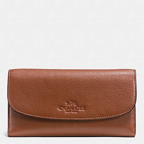 Coach 54446 Light Saddle pebble leather checkbook wallet f52715 light gold saddle coach new arrivals wallets
