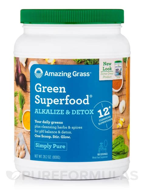 Amazing Grass Alkalize And Detox Review by Green Superfood 174 Alkalize Detox Powder 100 Servings