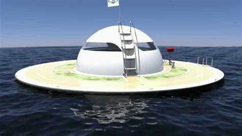floating boat house ufo u f o youtube
