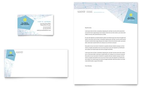 global network services business card letterhead
