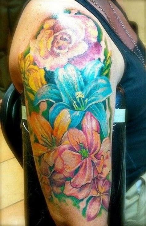 tattoo tropical flower 74 gorgeous flower tattoos design mens craze