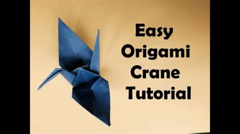 Easy Origami Crane For Beginners - origami crane easy tutorial easy origami for beginners