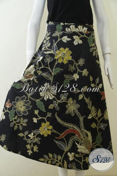 Rok Bunga Anak rok batik hitam motif bunga keren aneka batik kombinasi tulis model terbaru cocok juga untuk