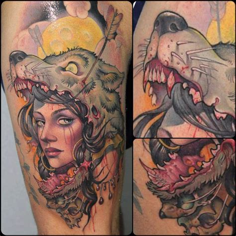 wolf tattoo for girl wolf headdress cool tattoos