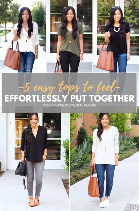 Tips On Looking More Put Together by 5 Tops That Will Make You Look Effortlessly Put Together