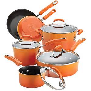 Ray 10 piece porcelain enamel non stick cookware set walmart com
