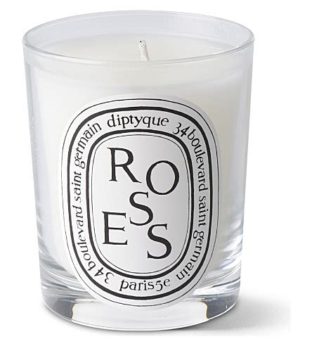 diptyque candele diptyque roses scented candle selfridges