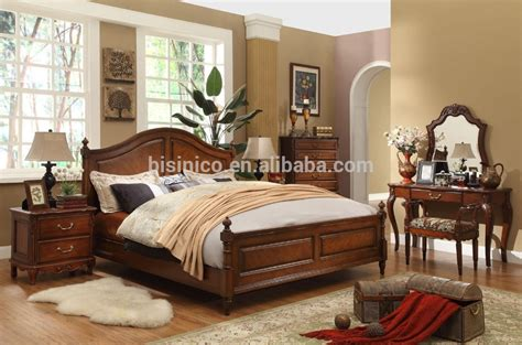 Simple Bedroom Furniture by Classic Wooden Simple Bedroom Set American Size Bed