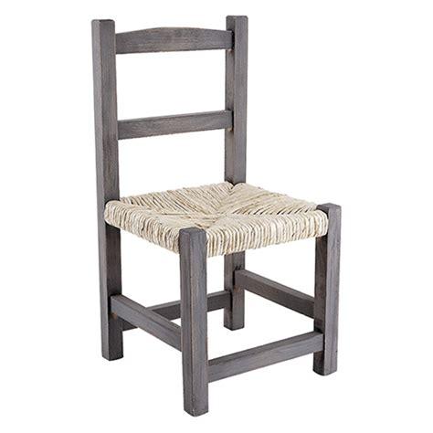 chaise enfant en bois chaise enfant 3 ans en bois gris et assise en paille de
