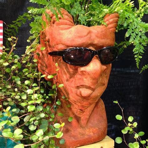 head shaped flower pot  home garden   america