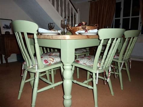 painted kitchen table and chairs pine farmhouse kitchen table with 6 chairs painted vintage