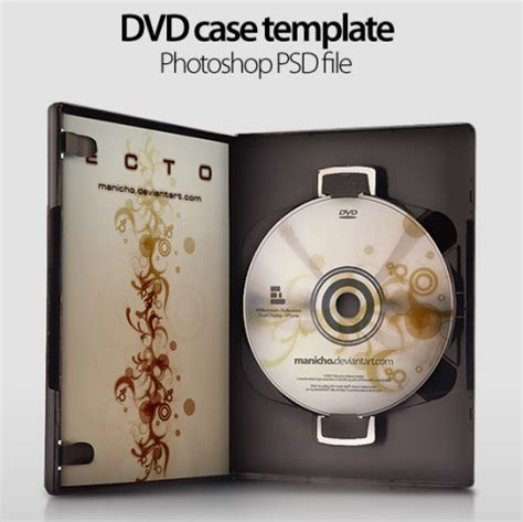 layout cover dvd photoshop free cd dvd case templates in psd format web resources