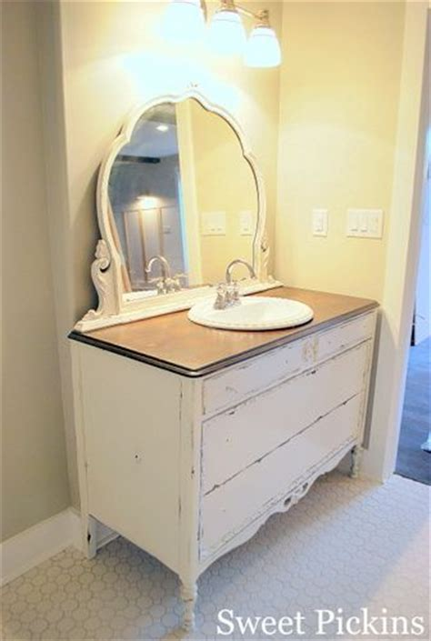 dresser made into bathroom vanity everything