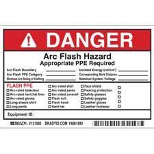 Brady Part 121080 Danger Write On Arc Flash Labels Danger Arc Flash Label Template