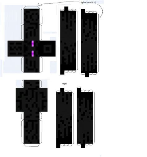 How To Make A Paper Enderman - 82 best images about mincraft on crafting