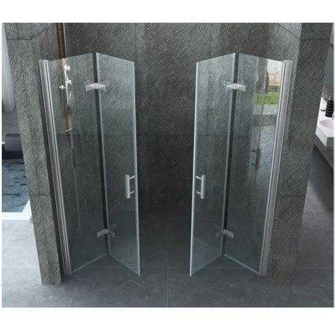 doccia doppia porta doccia doppia a libro cristallo trasparente 8mm con