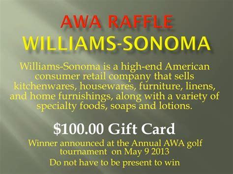 Williams Sonoma Gift Card Balance - awanew
