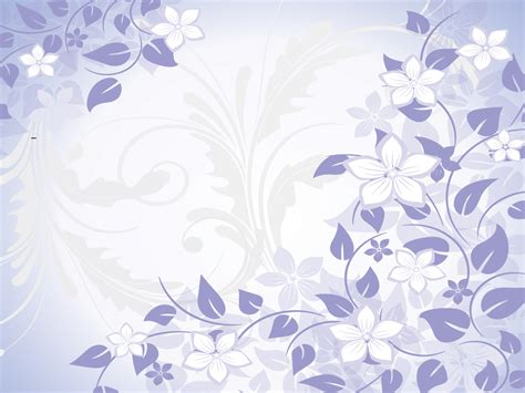Blue Flowers Spring Powerpoint Templates Blue Flowers Flower Blue Patterns Ppt Backgrounds