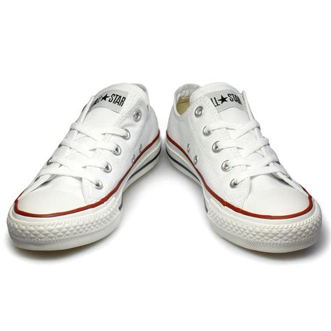 converse shoes size 3 converse all lo white canvas trainers sneakers shoes