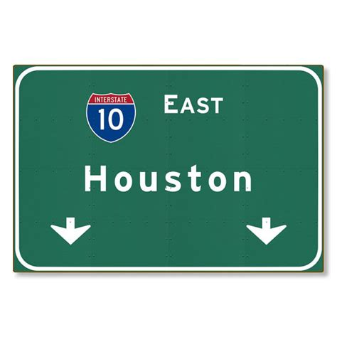Home Decor Greensboro Nc Highway Sign Houston Steel Wall Decor Tx Texas Interstate 10 E