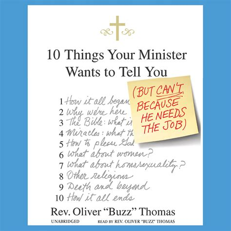 The Things She Needs 10 10 things your minister wants to tell you audiobook listen instantly