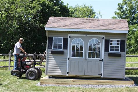 prepare  gravel shed pad sheds unlimited