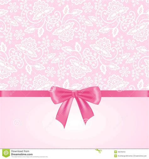 Pink Baby Shower Background by White Lace On Pink Background Stock Vector Image 42276413