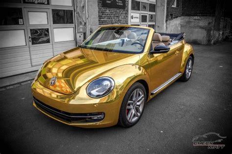 Vw Beetle Tieferlegen Kosten by Check Matt Dortmund Vw Beetle Cabrio Gold Chrom Folierung