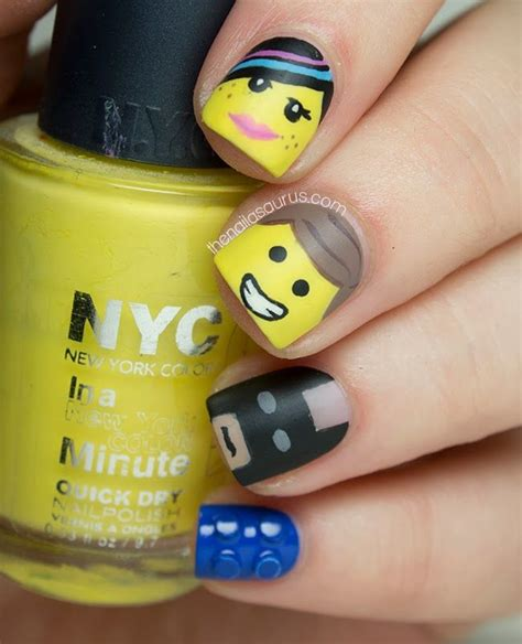 lego nails tutorial 42 best lego nails nail art design tutorials by nded