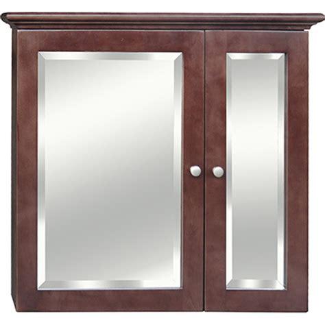 cherry 29x26 two door mirrored medicine cabinet bargain