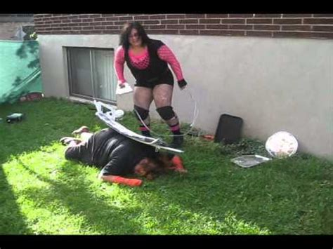 female backyard wrestling female hardcore backyard wrestling me vs eliza raven youtube