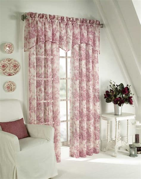 cottage drapes toile curtains