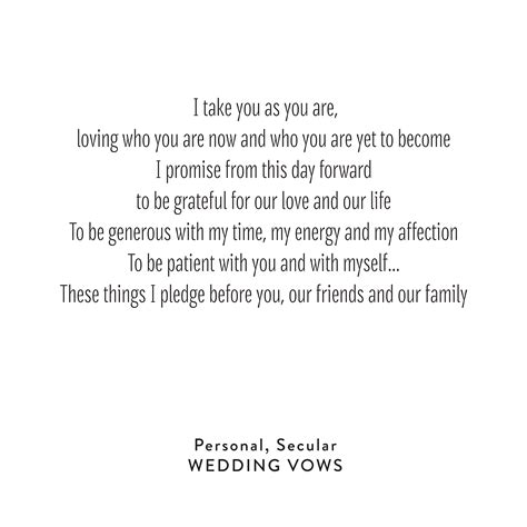 Wedding Vows by Wedding Vows Personal Secular Snippet Ink Snippet
