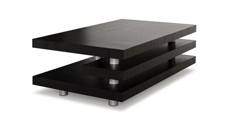 Black Modern Coffee Tables A X Adrian Modern Multi Tier Black Oak Coffee Table