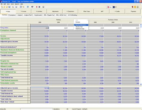 Tax Planning Spreadsheet by Tax Planning Software For Tax Analysis Advice And