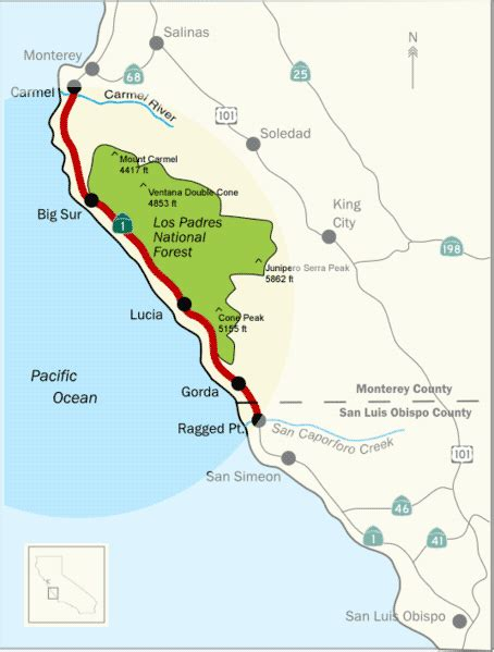 Pch Big Sur Road Closure - big sur california