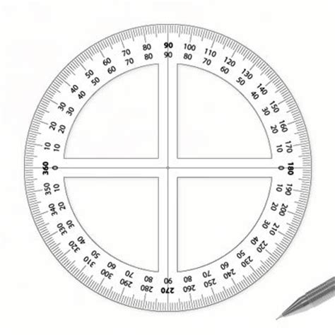 circular protractor template design your own products 360 176 protractor plan