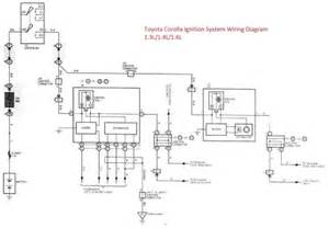 toyota corolla ignition system wiring diagram