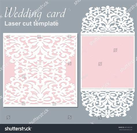 basic card cuts cardstock template vector die laser cut wedding card stock vector 401492125