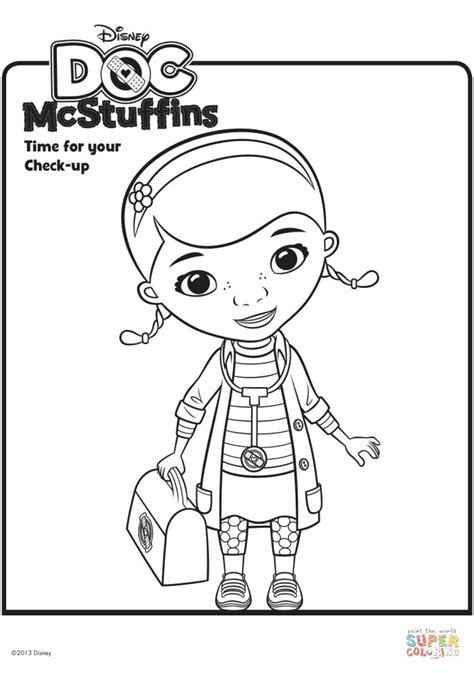 Doc McStuffins with Doctor's Bag coloring page | Free
