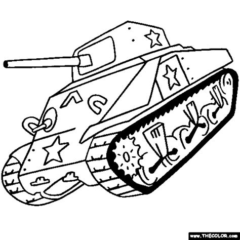 Sherman Tank Online Coloring Page Color Tanks Tanks Coloring Pages 5