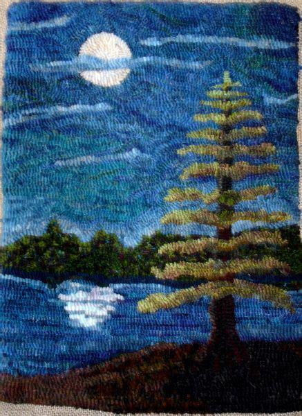 moon and rug i really like how the tree was hooked wonderful rugs beautiful beautiful moon