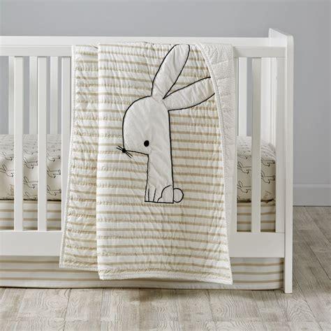 bunny crib bedding crib bedding the land of nod