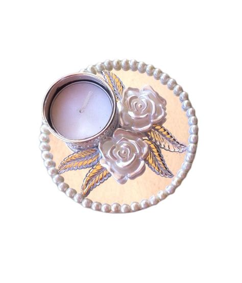 White Candle Stand by Petals White Candle Stand Buy Petals White Candle Stand
