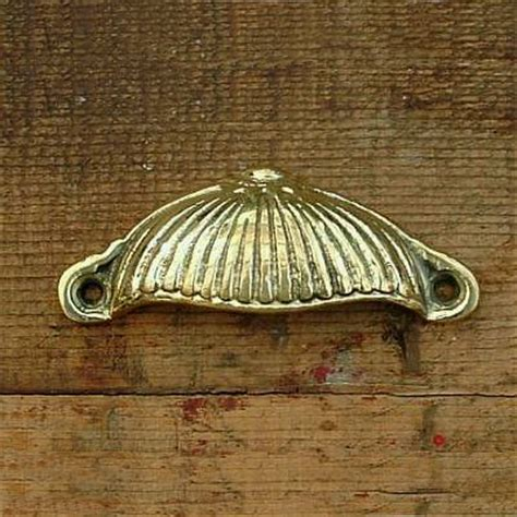 Wooden Curtain Pole Brackets 35mm Brass Regency Drawer Pulls
